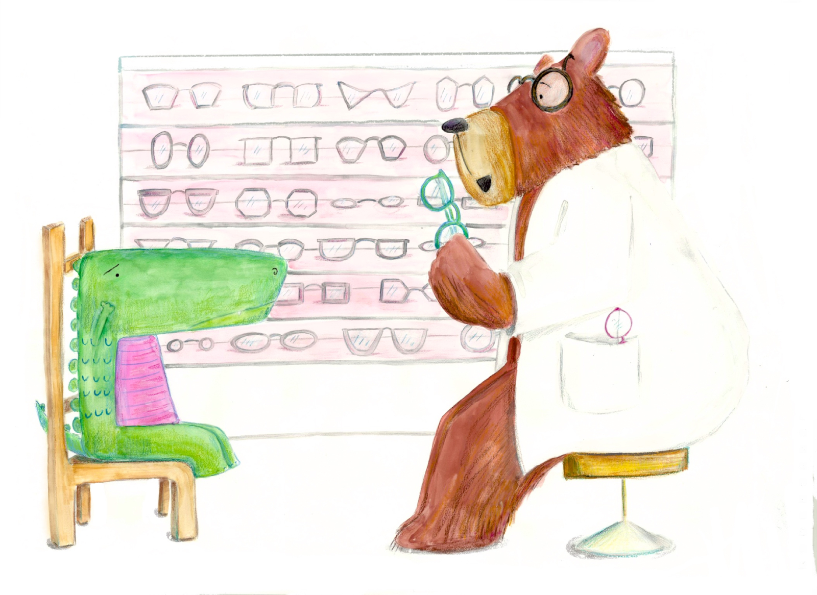 T-Rex is joined by the bear eye doctor